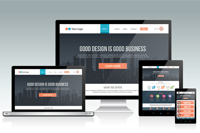 professionally designed website